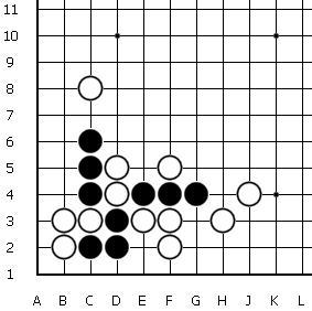 В следующей задаче следует найти наилучший ход за черных.
